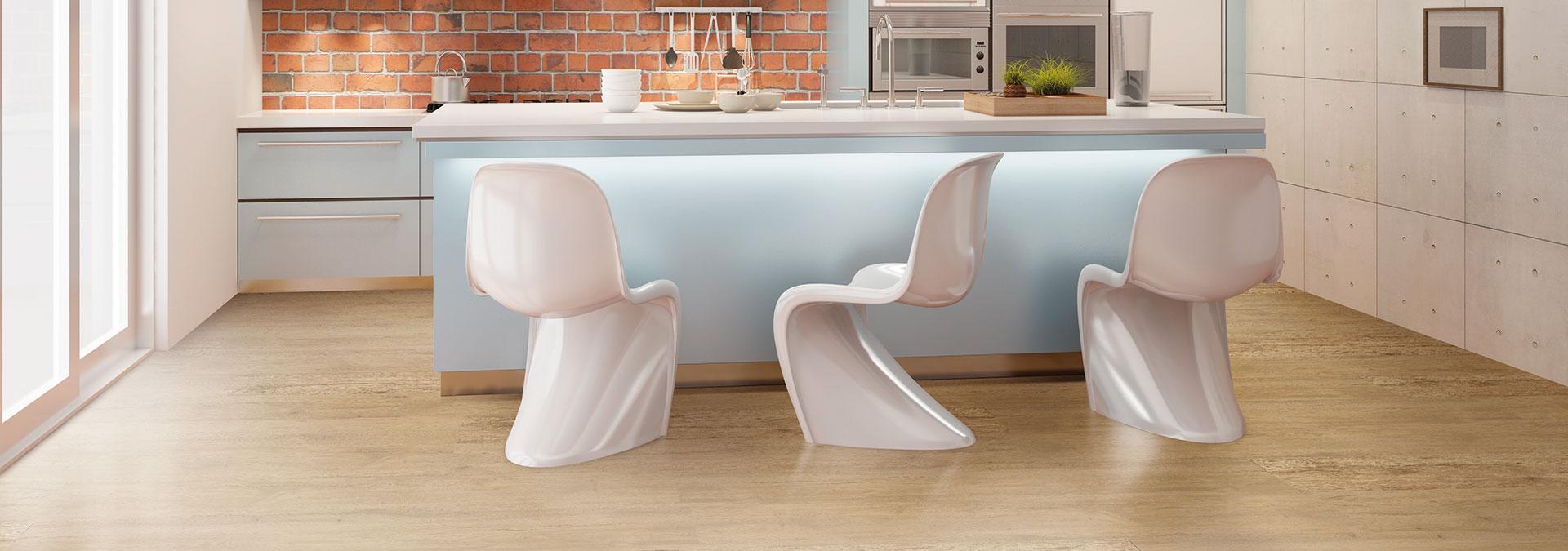 Designboden Eiche Vita in der Küche