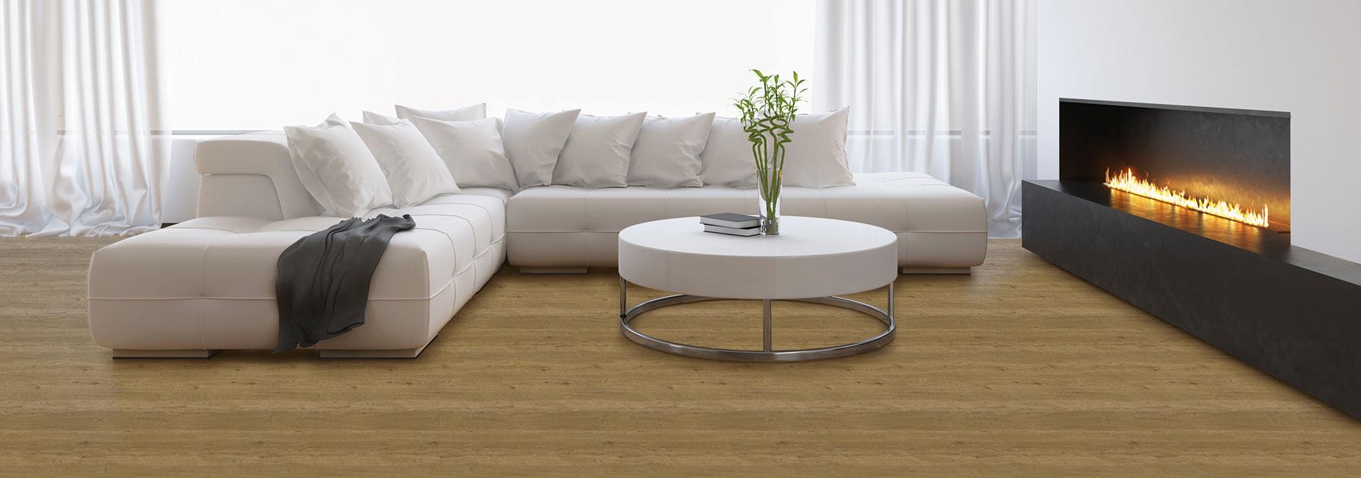 Designboden Eiche Scape im Wohnzimmer
