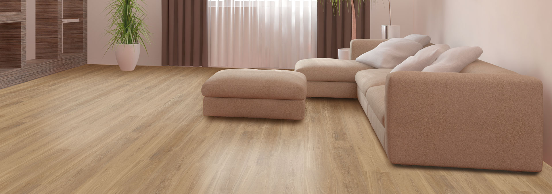 Designboden Kernesche Natur im Wohnzimmer